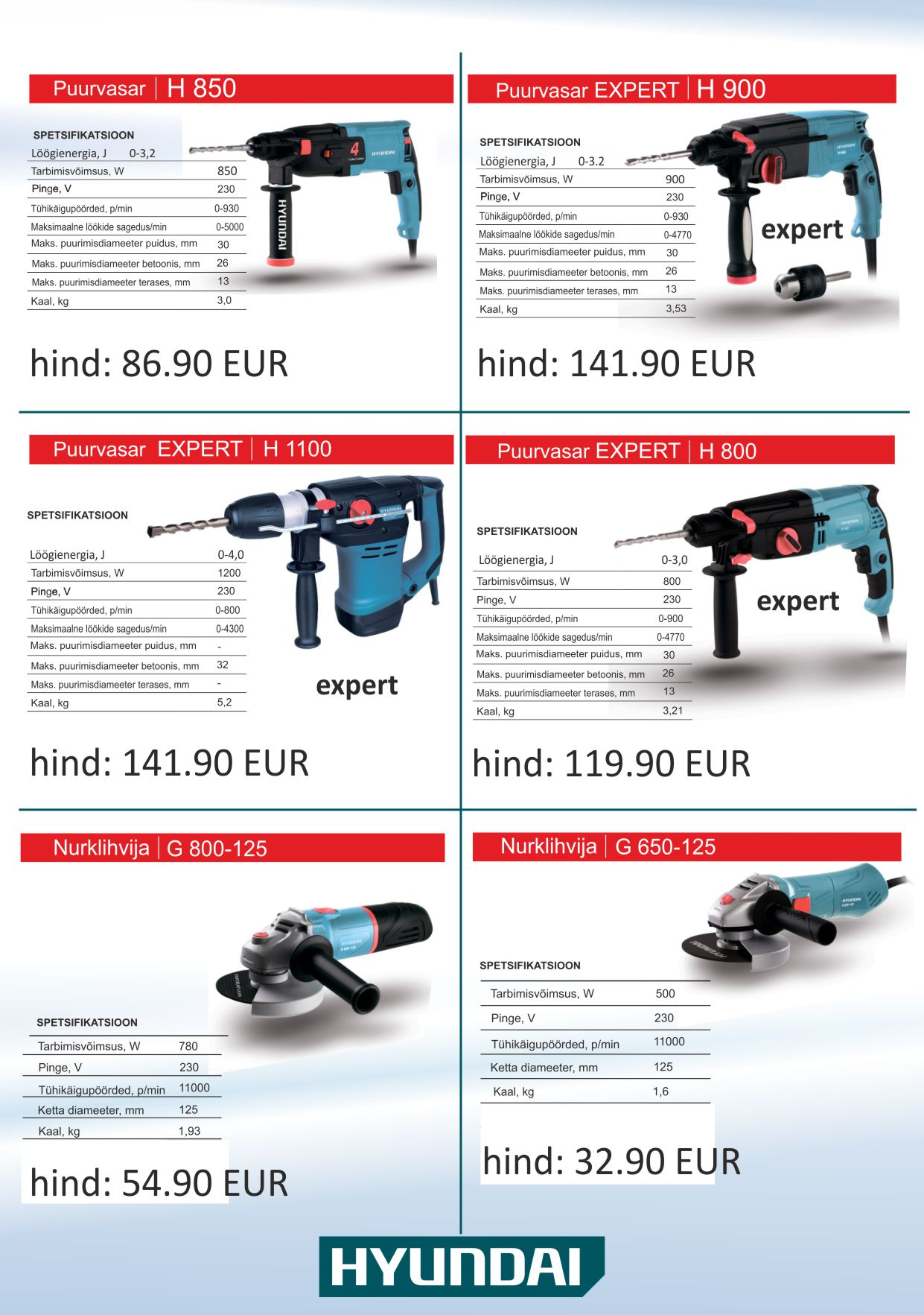 9 kataloog tööriistad h2