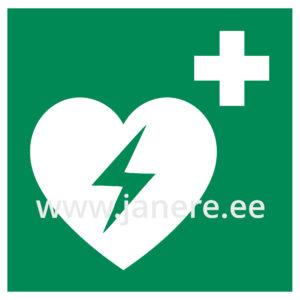 Kleebis defibrillaator-elustamisaparaa20